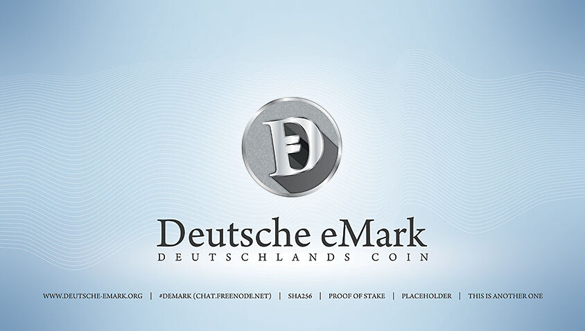DEM – Deutsche eMark CryptoCurrency Logo Concept