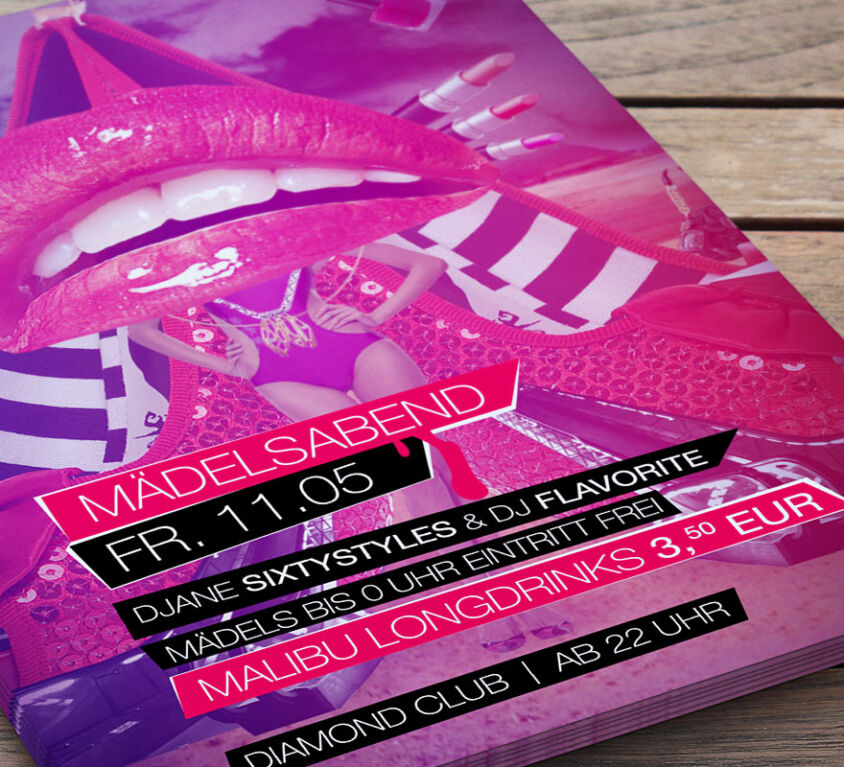 Mädelsabend (Ladies Night) Club Flyer